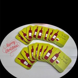 Green Coaster Set of 16- Christmas Gift